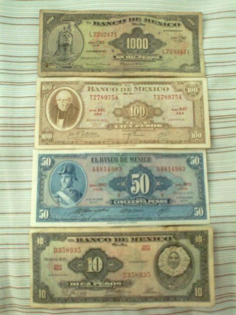 Los billetes que usabamos