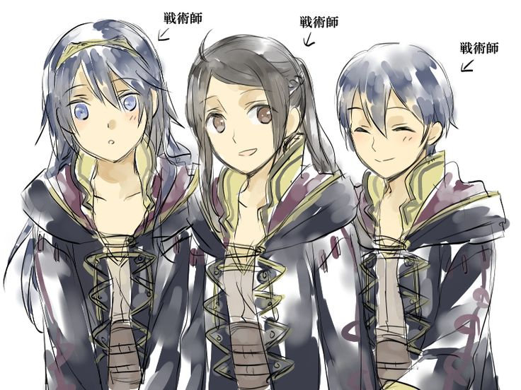 Mother, daughter, and son. #FireEmblemAwakening