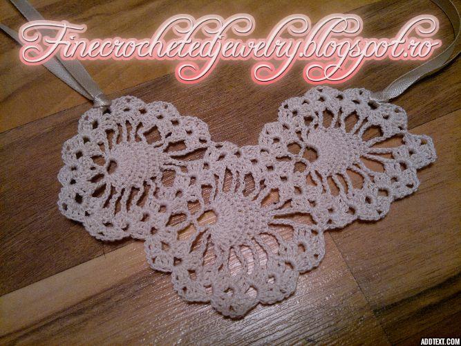 Crochet vintage necklace http://www.finecrochetedjewelry.blogspot.ro/
