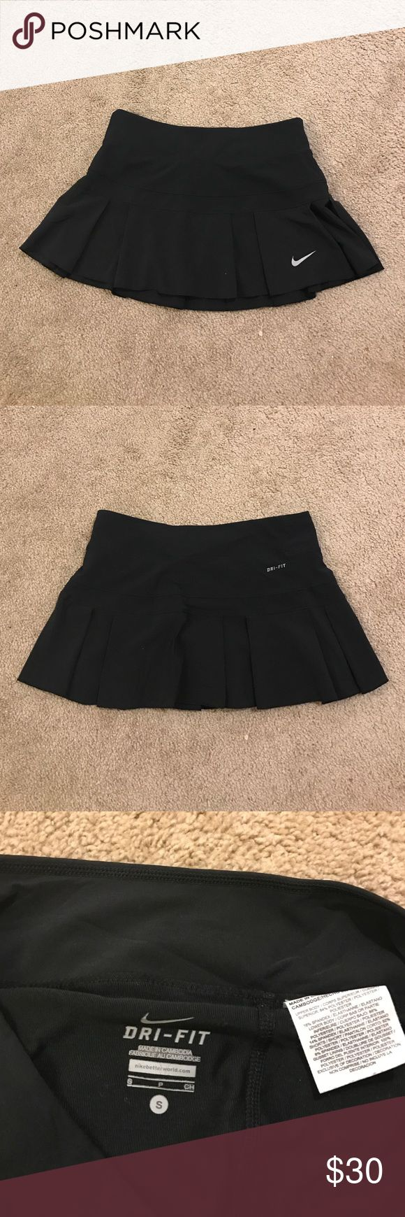 Black Nike Skirt This is a really cute Nike skirt with shorts built in. I wore it to play tennis but you could use it for running as well. It is is really good condition, it's just too small for me now. Feel free to make an offer! Nike Skirts