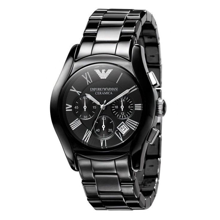 Emporio Armani AR1400 Men's Valente Ceramica Ceramic Chronograph Watch - TheWatchCabin - 1