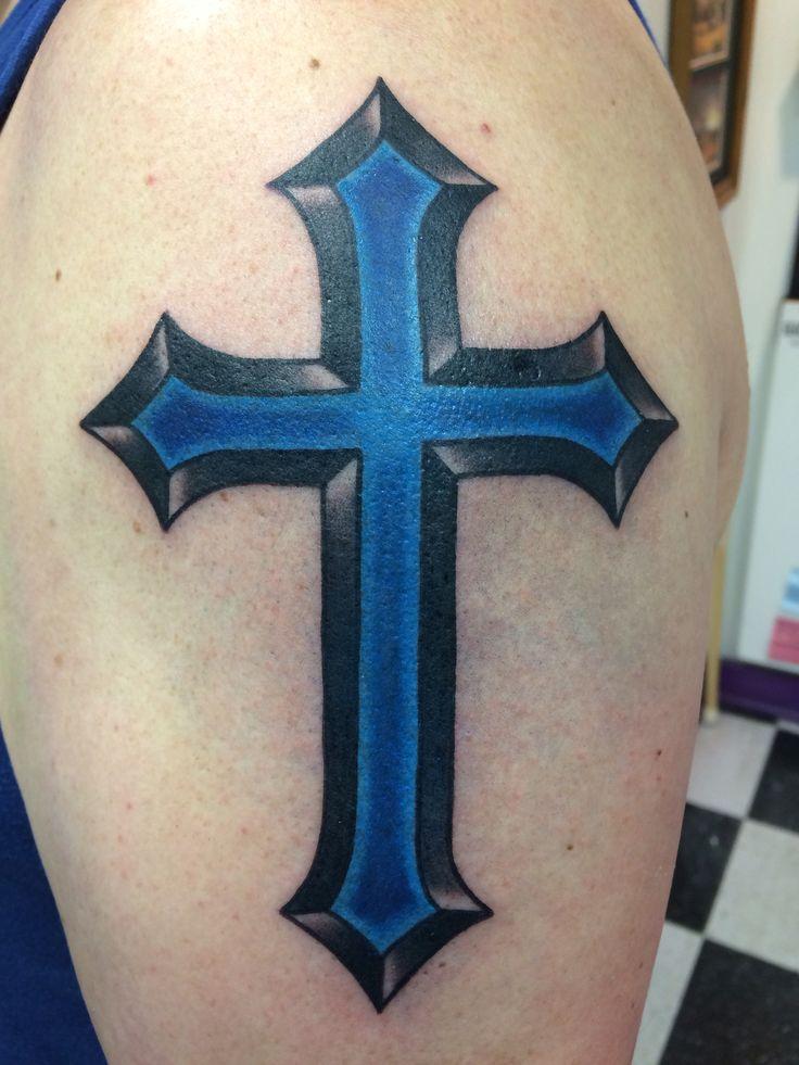 Love my husbands new tattoo! | Thin Blue Line ...