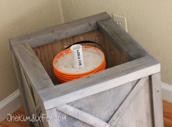 diy scrap wood crate christmas tree stand - Christmas Tree Stands