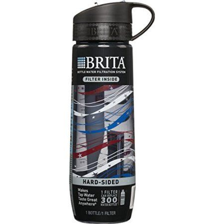 Free Shipping. Buy Brita Filtered Water Bottle (includes 1 Filter), Hard Sided, BPA Free, Americana, 23.7 Ounces at Walmart.com