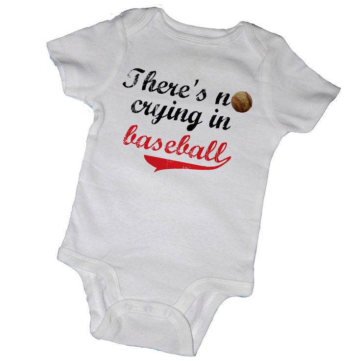Theres NO CRYING In BASEBALL Bodysuits Baby Shower By EmbryLu