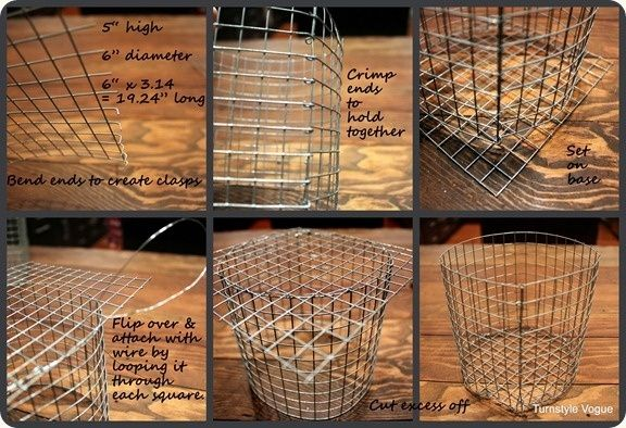 How To:  Wire baskets made from fencing by Lynn Merchant Stovall