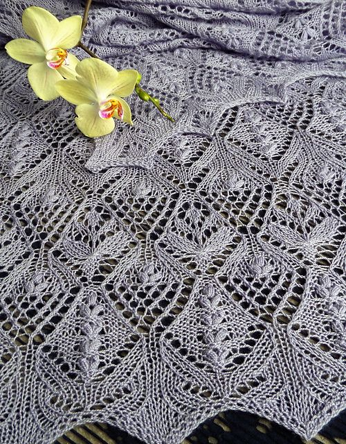 Ravelry: Flowerbed Stole pattern by CraftArella