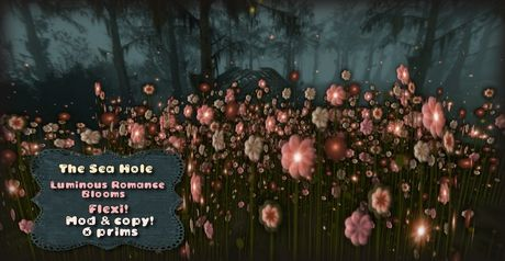 Second Life Marketplace - The SEa Hole -- Luminious Romance Flowers