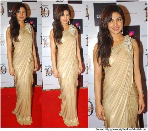 Priyanka Chopra in Sarees   Bollywood Sarees, Designer Sarees, Dresses