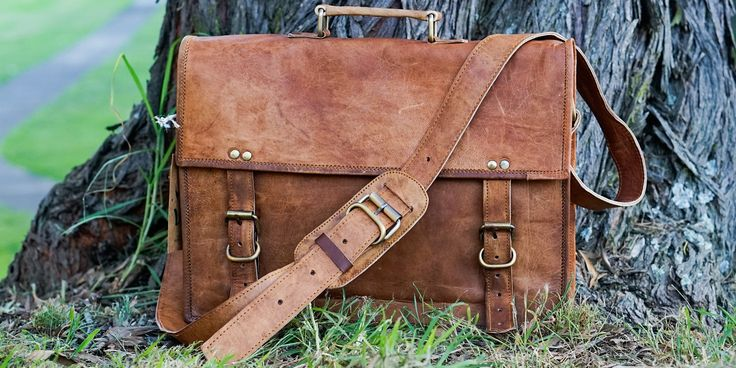 Vintage Goat Leather Duffle Bag