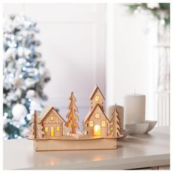 Buy Tesco Plywood House Christmas Decoration from our Skandi range - 18x27x15cm - £12.00