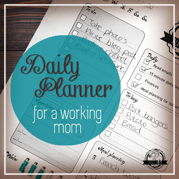 Daily planner pin