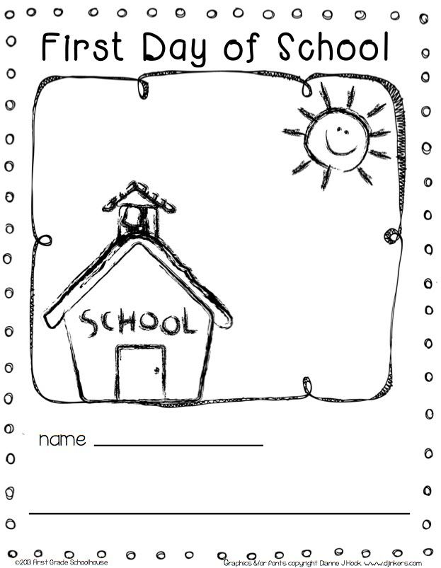Coloring Pages For First Day Of Kindergarten : Best images about preschool worksheets on pinterest