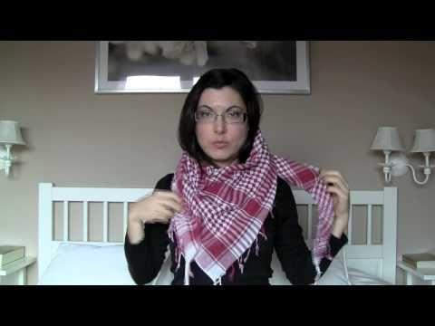 Como usar bufandas, pañuelos, palestinas ...