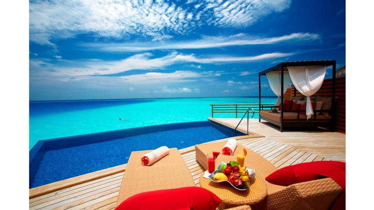 There may not be much else to look at but ocean, but that's OK when it's the Indian one. Find tranquility like nowhere else on earth marooned on the Maldivian isle that's home to the Baros resort.  Baros Resort, baros.com.   - HarpersBAZAAR.com