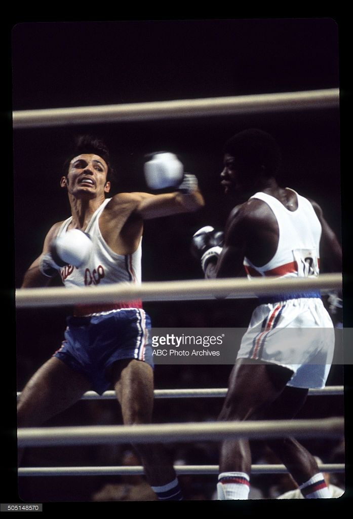 OLYMPICS - Men's Boxing - The 1976 Summer Olympic Games aired on the ABC Television Network from July 17 to August 1, 1976. Shoot Date: July 22, 1976. ISMAEL MARTINEZ (PUERTO RICO, L) VS. CLINTON MCKENZIE (GREAT BRITAIN), LIGHT