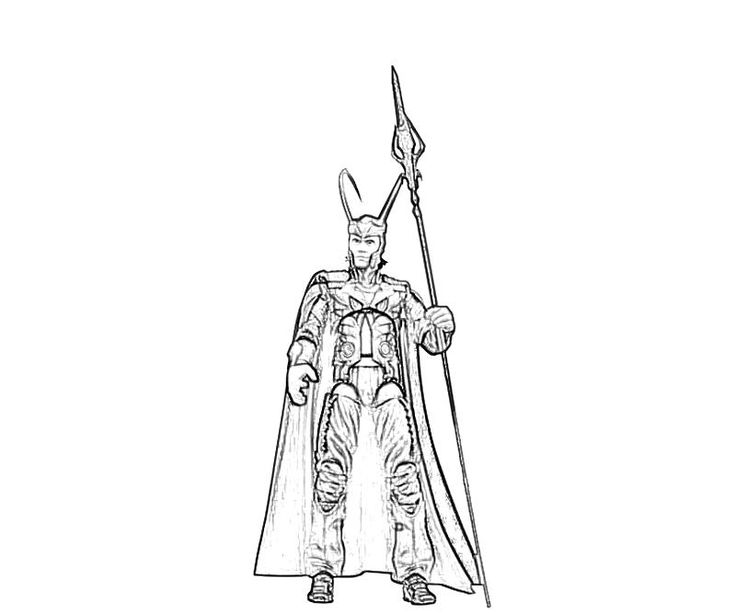 avengers coloring pages loki - photo#19