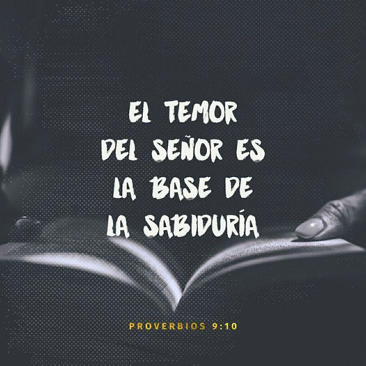 El temor de Jehová es el principio de la sabiduría, Y el conocimiento del Santísimo es la inteligencia. Proverbios 9:10 RVR1960