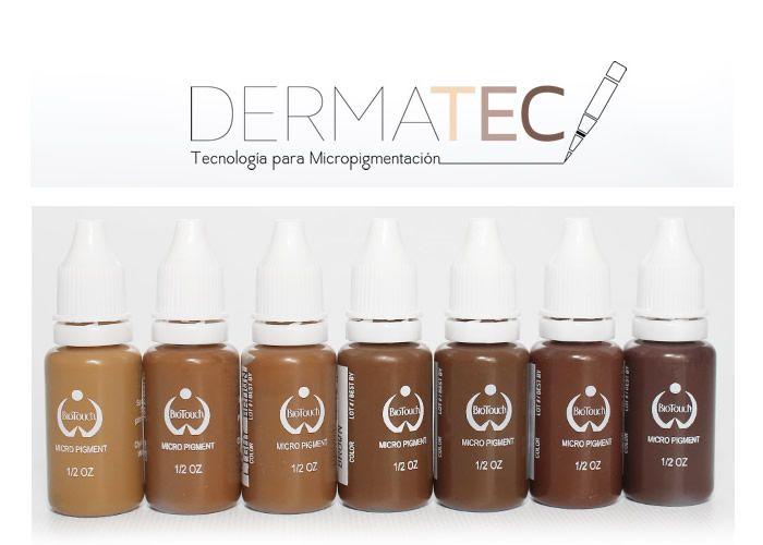 Pigmentos BioTouch pueden ser mezclados para que coincida con el tono de piel de su cliente para las cejas , delineador de ojos y delineador de labios .