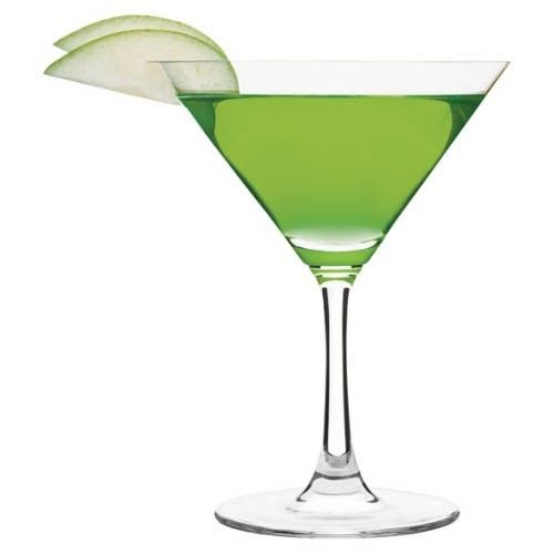 A delicious recipe for Apple Martini, with Absolut vodka, DeKuyper Sour Apple Pucker schnapps and apple juice.