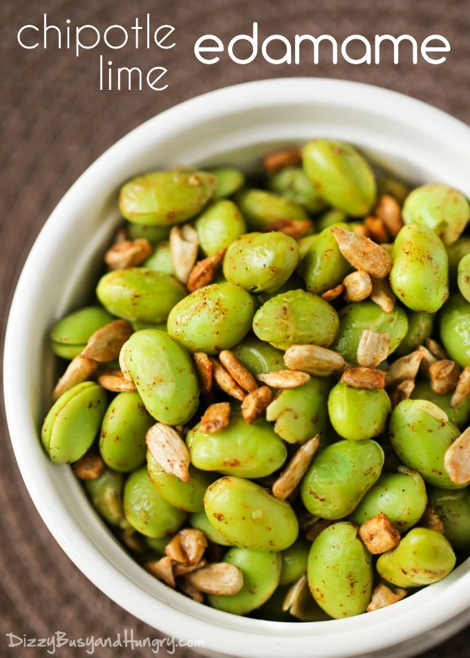 Chipotle Lime Edamame   DizzyBusyandHungry.com - Flavorful and healthy side dish idea!