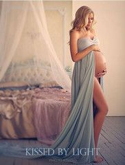 Rachel Gown - Long Flowing Sheer Chiffon Sweetheart Style Maternity Gown