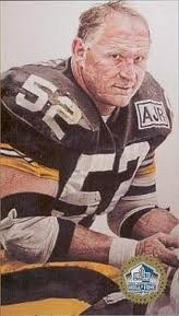 THE BEST CENTER/BEST O-LINEMAN who ever strapped on a helmet.........Mike Webster was a Steeler legend.