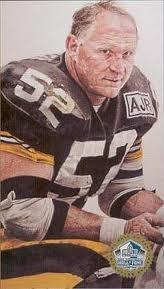 THE BEST CENTER/BEST O-LINEMAN who ever strapped on a helmet.........Mike Webster was a Steeler legend.