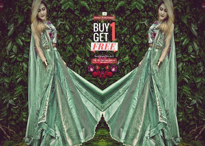 #StyleSell #BridalFestival #Offer-  Our biggest offer of all time is back again - BUY 1 GET 1 FREE! Offer is valid on ALL the Lahengas in the store! Offer starts from 14th April (Friday).  StyleSell proudly presents to you its exquisite Summer Bridal Collection '17 to make your wedding shopping experience amazing and value for money!  Terms and Conditions- 1) No return and exchange policy. 2) No alteration service available for dresses. 3) No booking service available.  Our Shop address…