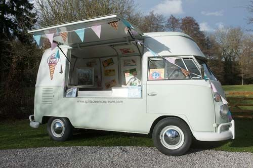 The Splitscreen Ice Cream Company- these guys make the yummiest ice creams ever!! And the van is pretty cool too!!