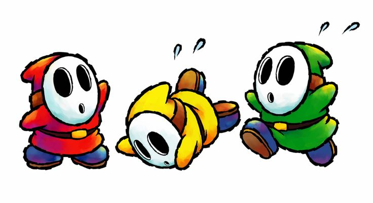 Shyguys of different colors!~