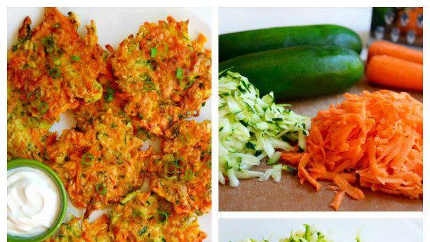 Rychlé a křupavé zeleninové bramboráky z cukety a mrkve.