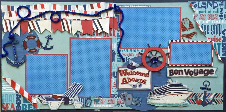Cruise scrapbook page