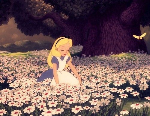 """""""Cats and rabbits would reside in fancy little houses, and be dressed in shoes and hats and trousers, in a world of my own! All the flowers would possess some extra special powers, they would sit and talk to me for hours when I'm lonely in a world of my own..."""" - Alice's song about her Wonderland"""
