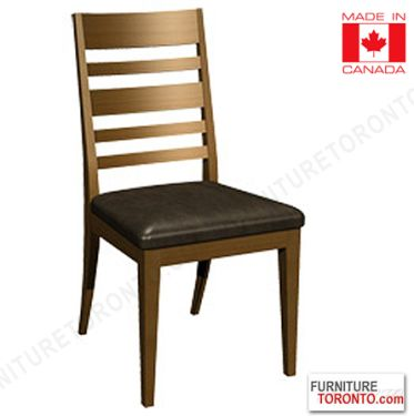 Solid Wood Dining Chair made in Canada. Choice of wood stain and fabric. $379