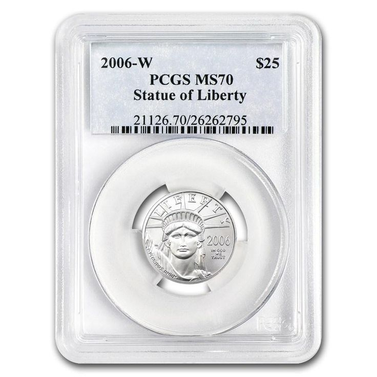 2006-W $25 Burnished Platinum American Eagle .25oz Coin- Graded MS-70