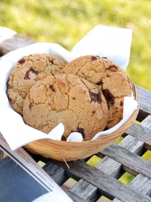 Chocolate chip cookies opskrift fra Bageglad.dk