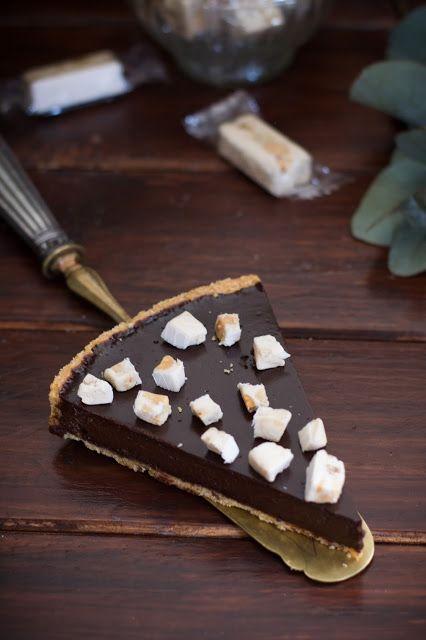 Tarte au chocolat et nougat