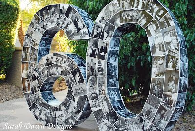 Photo numbers. Great idea for milestone birthdays and anniversaries.