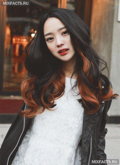 омбре рыжие волосы