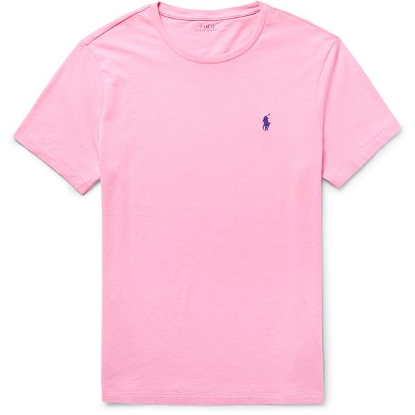 Polo Ralph Lauren Slim-Fit Cotton-Jersey T-Shirt ($62) ❤ liked on Polyvore…