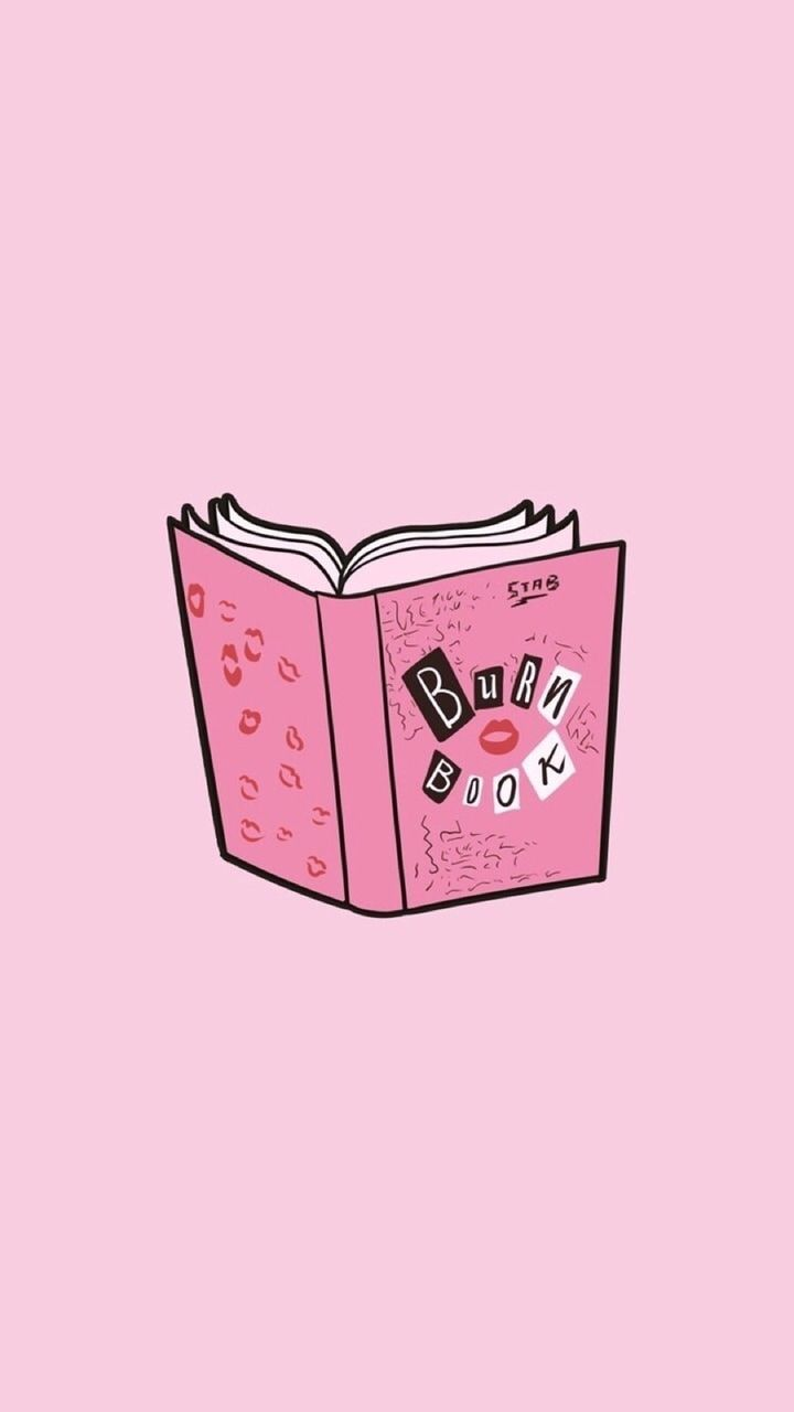 Burn Book Wallpaper Iphone Cute Pink Wallpaper Aesthetic Iphone Wallpaper