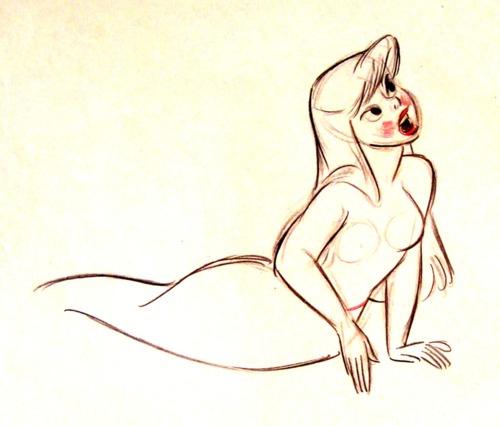 Peter Pan Mermaid Concept Art By Fred Moore
