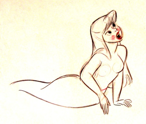 Peter Pan Mermaid Concept Art By Fred Moore