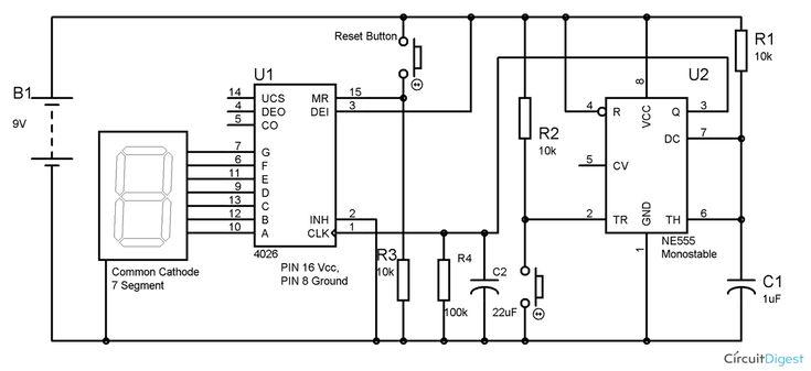 0 to 99 digital counter circuit diagram