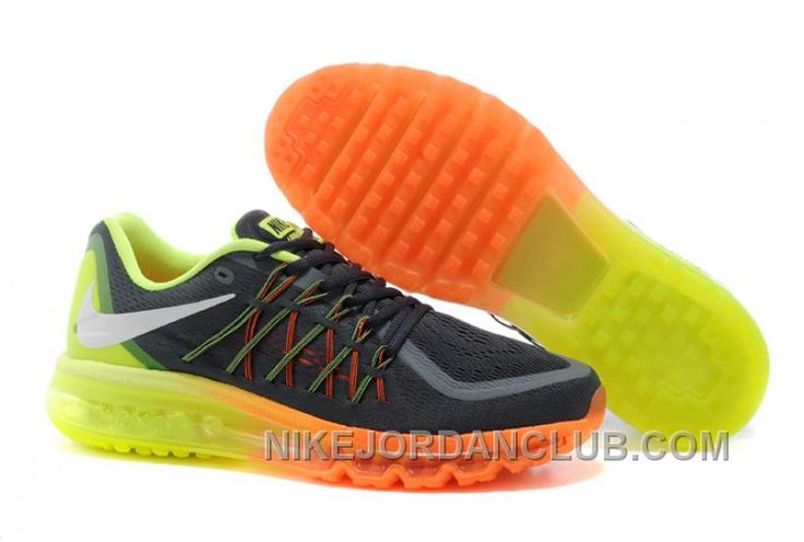 http://www.nikejordanclub.com/buy-2015-nike-air-max-running-shoes-on-sale-grey-orange-green.html BUY 2015 NIKE AIR MAX RUNNING SHOES ON SALE GREY ORANGE GREEN Only $97.00 , Free Shipping!