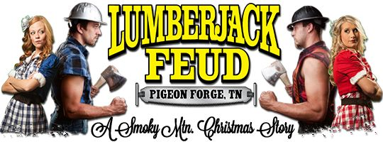 The Lumberjack Feud! Save $3 when you purchase your tickets online to the Lumberjack Feud Dinner Show in Pigeon Forge, Tennessee! The Lumberjack Feud Smoky Mountain Christmas Story runs thru January 5, 2014. The Lumberjack Feud Dinner Show is #1 in family fun.