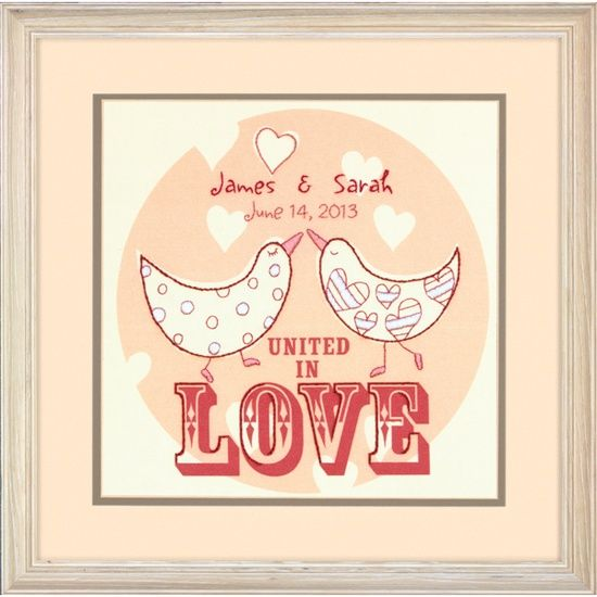 Dimensions Crafts® | Love Birds Wedding Record Crewel Embroidery Kit