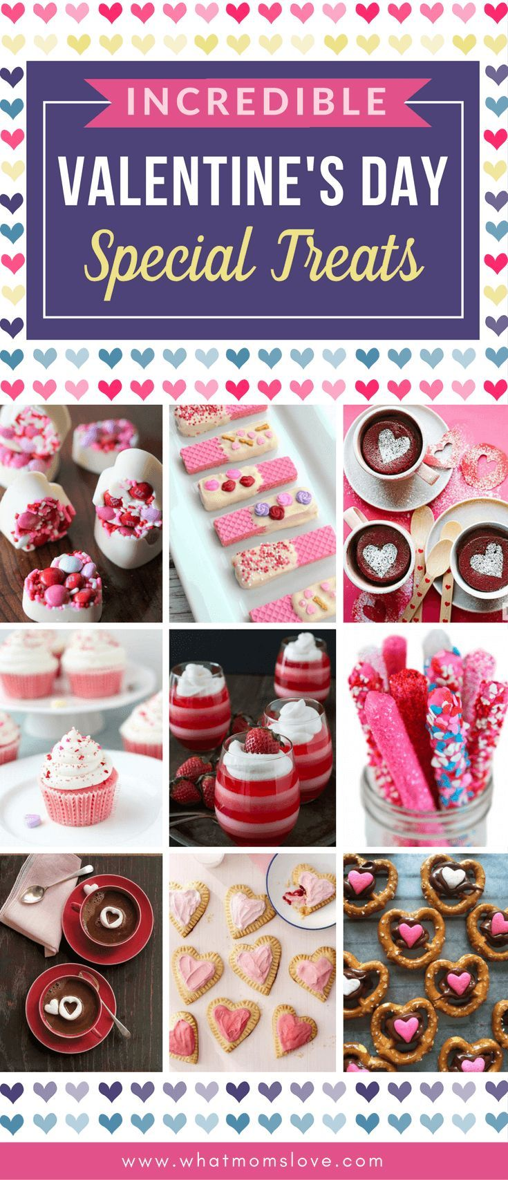 Valentines Day Treat Ideas for Kids | Fun and easy treats to make for school and classroom parties, or to celebrate with friends and family at home. Simple recipes with hearts, candy, and cookie cutters.