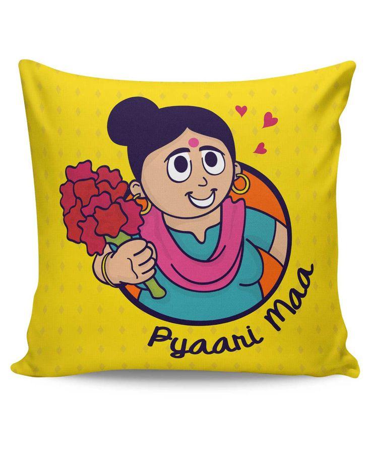 Pyaari Maa Love You Mom Mothers Day Cushion Cover